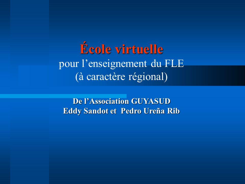 De l'Association GUYASUD Eddy Sandot et Pedro Ureña Rib