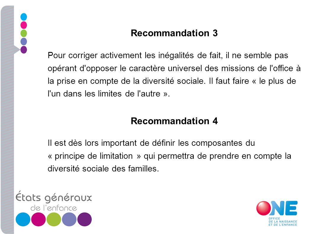 Recommandation 3 Recommandation 4