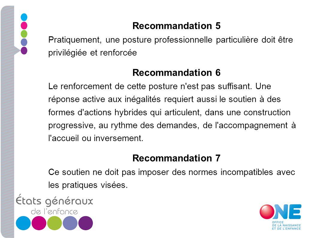Recommandation 5 Recommandation 6 Recommandation 7