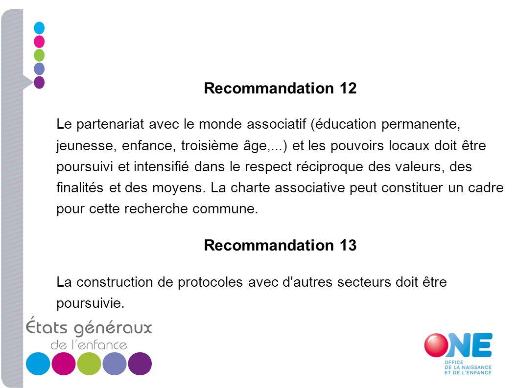 Recommandation 12 Recommandation 13
