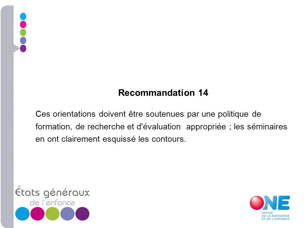 Recommandation 14