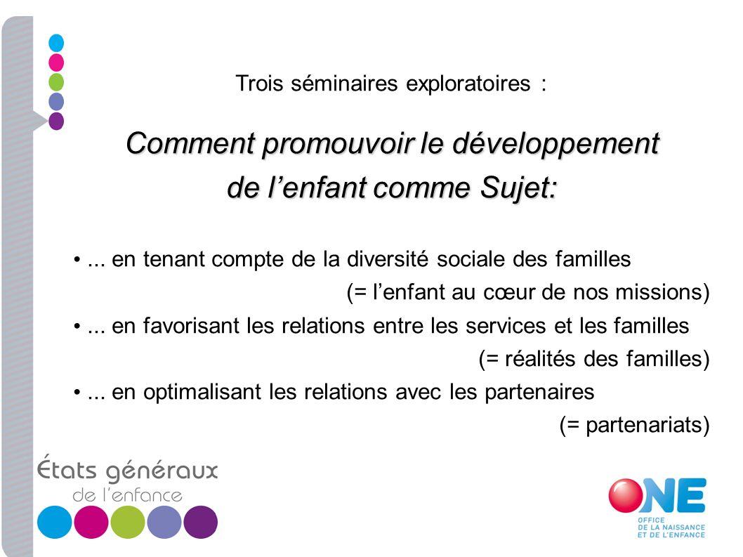 Comment promouvoir le développement de l'enfant comme Sujet: