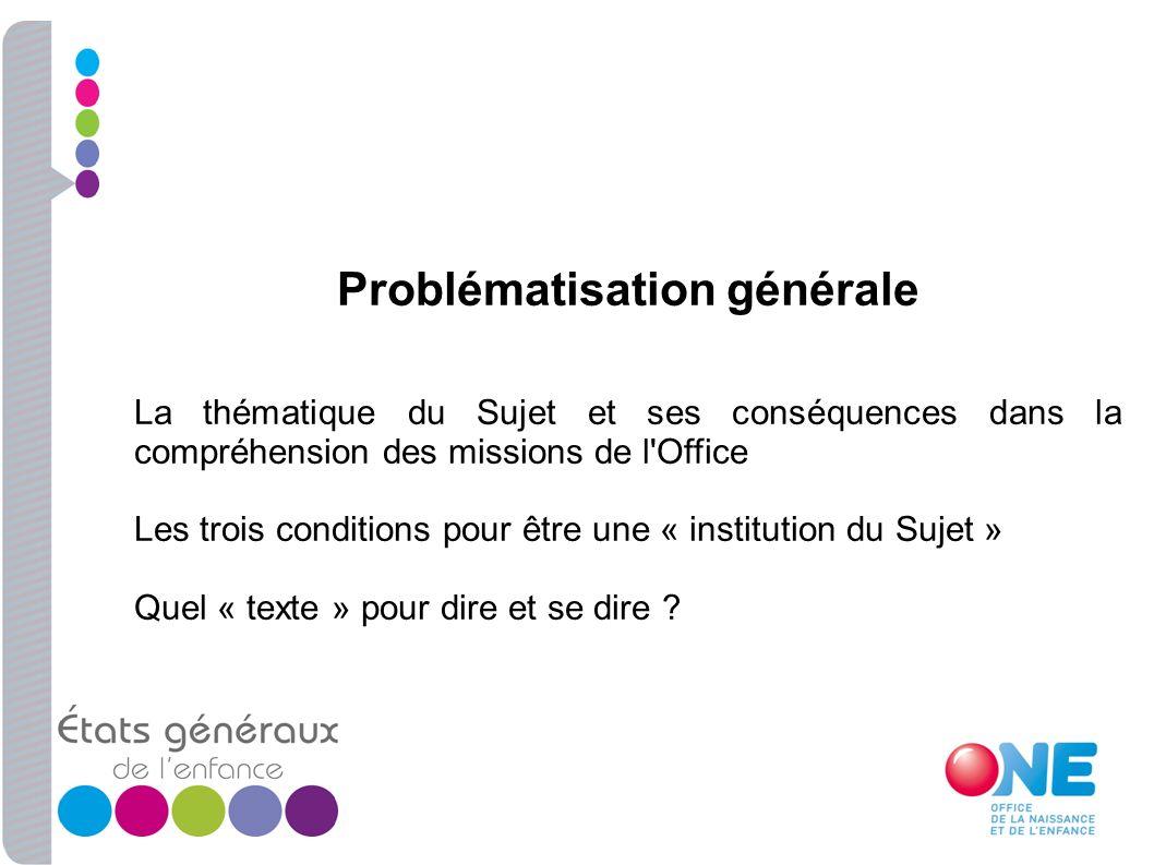 Problématisation générale