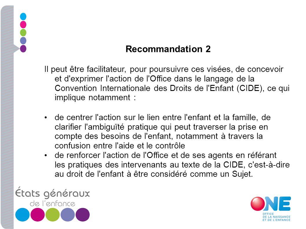 Recommandation 2