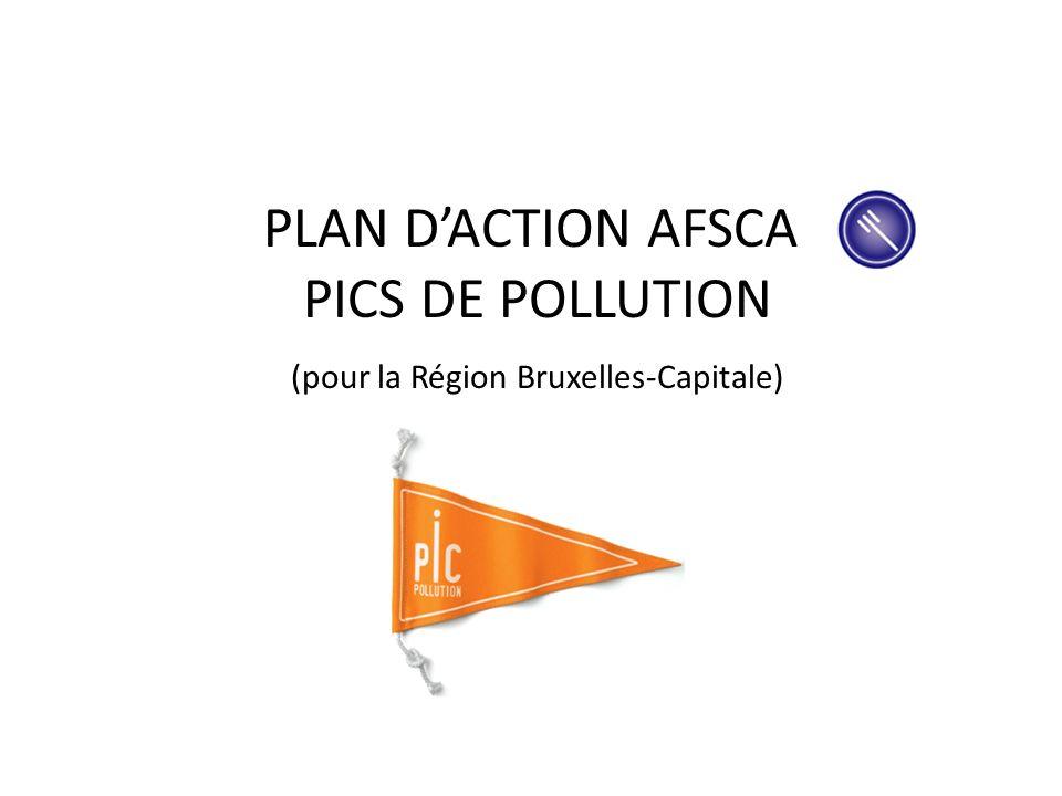 PLAN D'ACTION AFSCA PICS DE POLLUTION (pour la Région Bruxelles-Capitale)