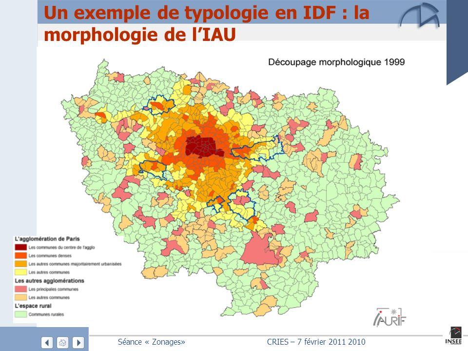 Un exemple de typologie en IDF : la morphologie de l'IAU