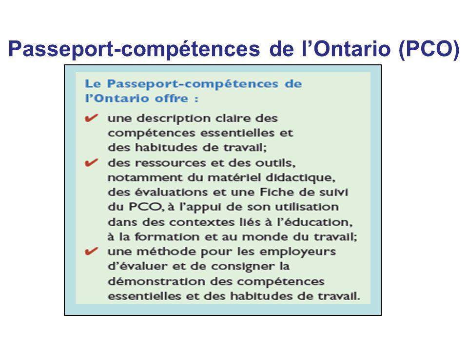 Passeport-compétences de l'Ontario (PCO)