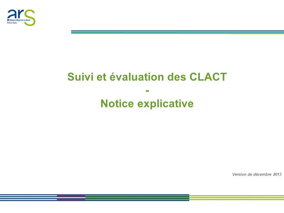 Suivi et évaluation des CLACT
