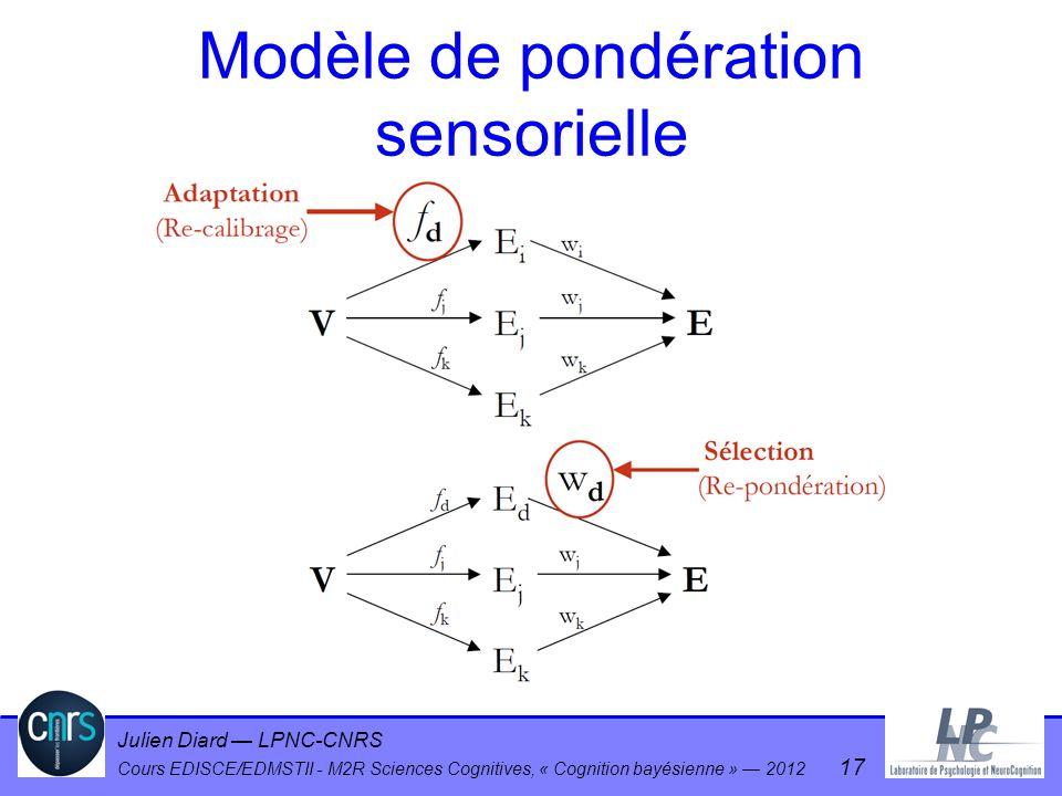 Modèle de pondération sensorielle
