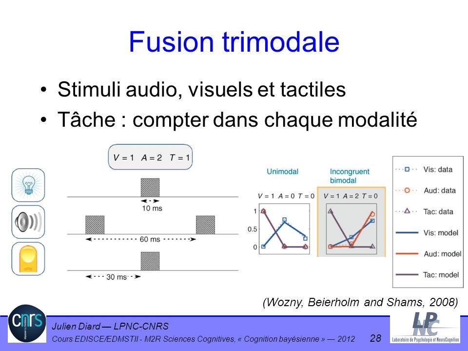 Fusion trimodale Stimuli audio, visuels et tactiles