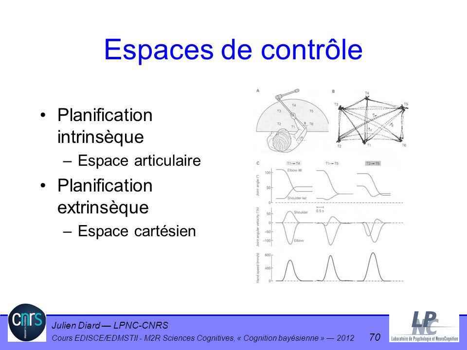 Espaces de contrôle Planification intrinsèque