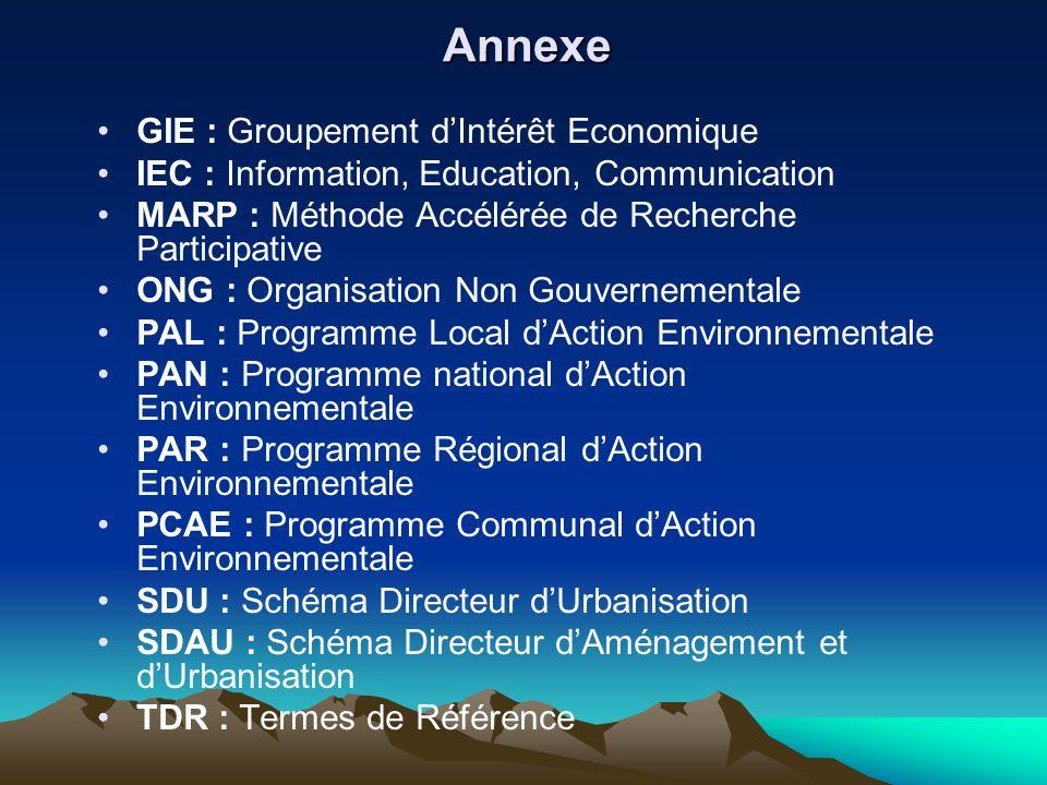 Annexe GIE : Groupement d'Intérêt Economique