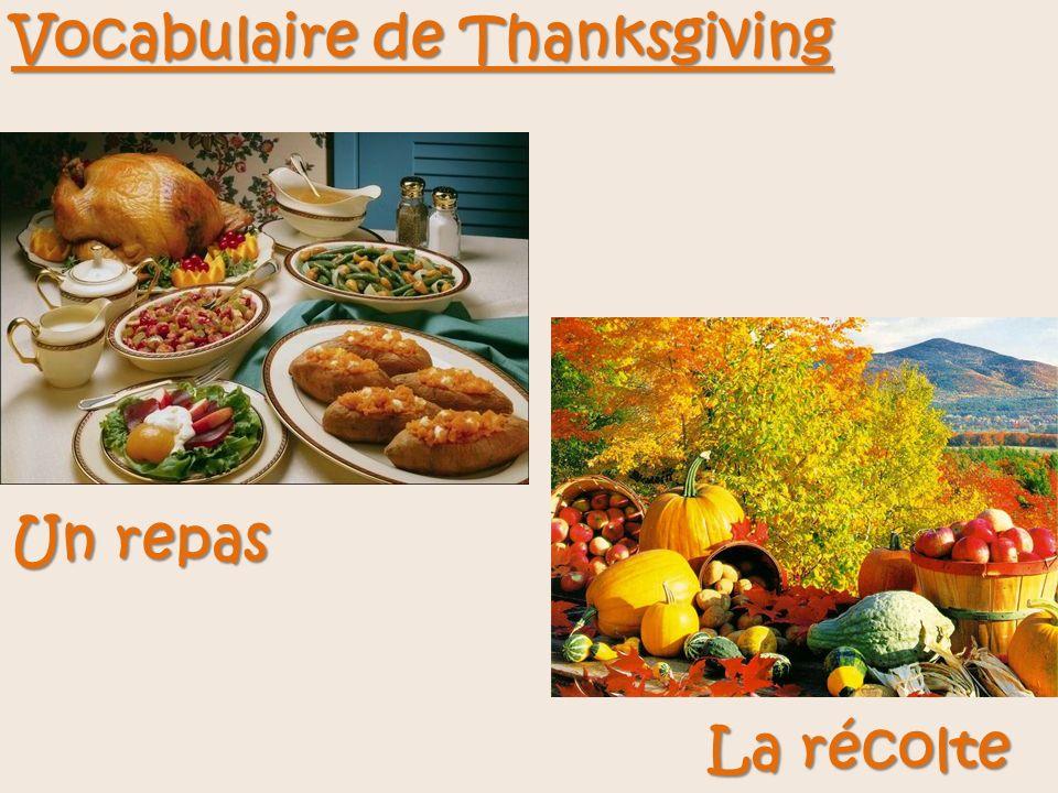 Vocabulaire de Thanksgiving