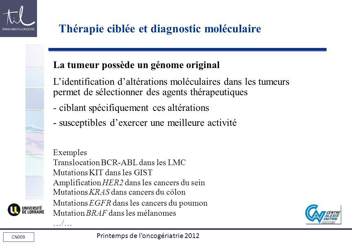 Thérapie ciblée et diagnostic moléculaire