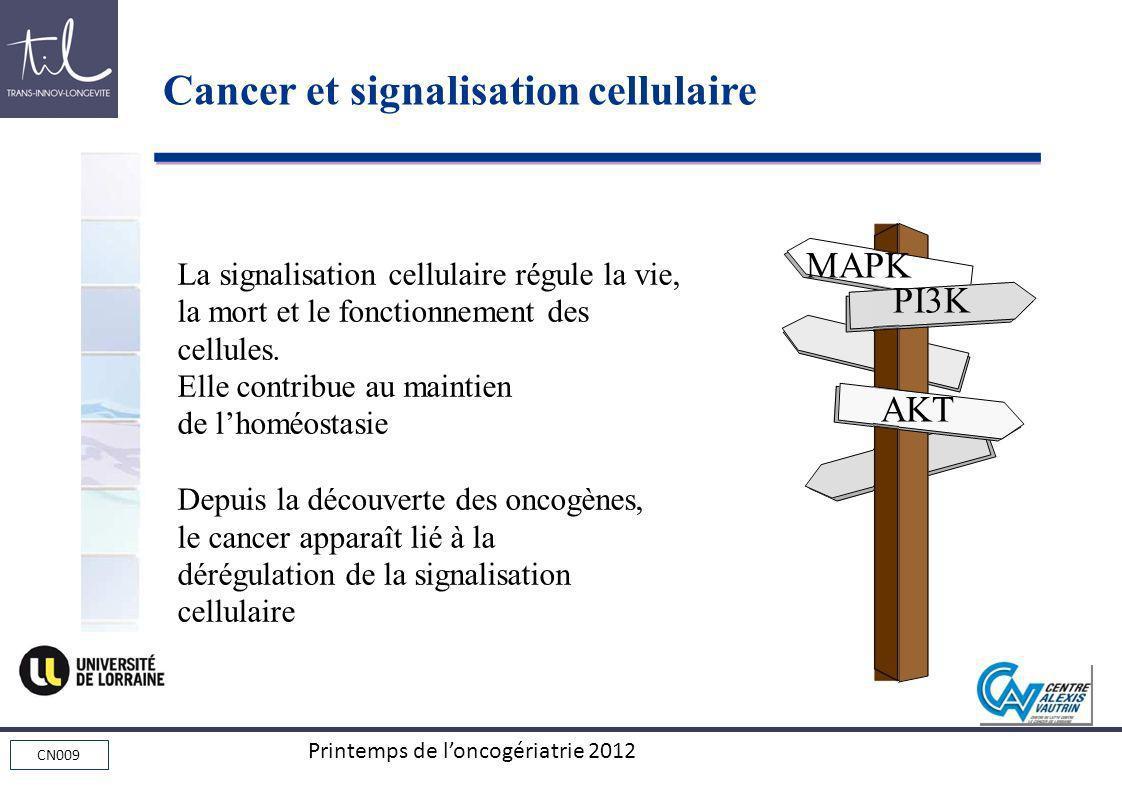 Cancer et signalisation cellulaire