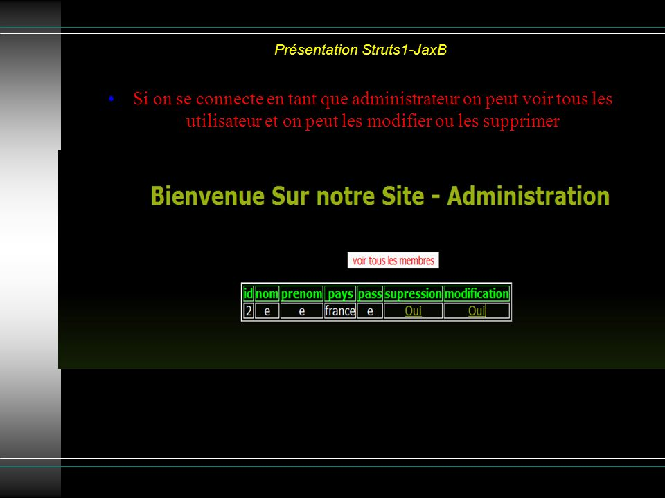 Présentation Struts1-JaxB