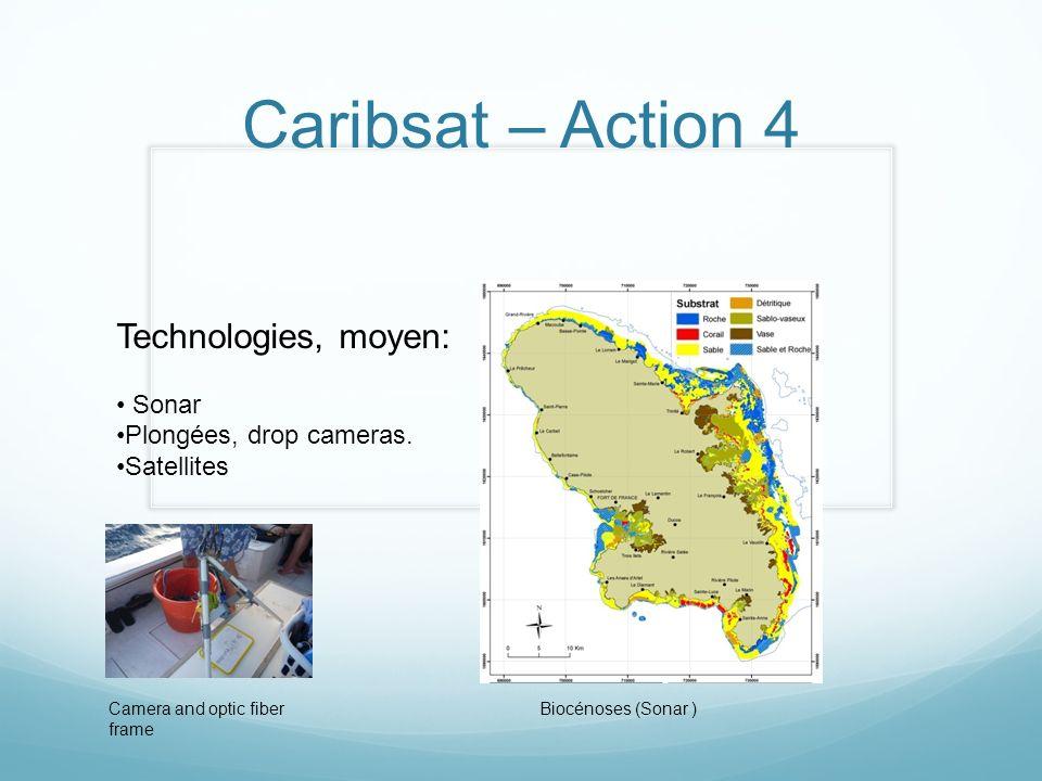 Caribsat – Action 4 Technologies, moyen: Sonar Plongées, drop cameras.