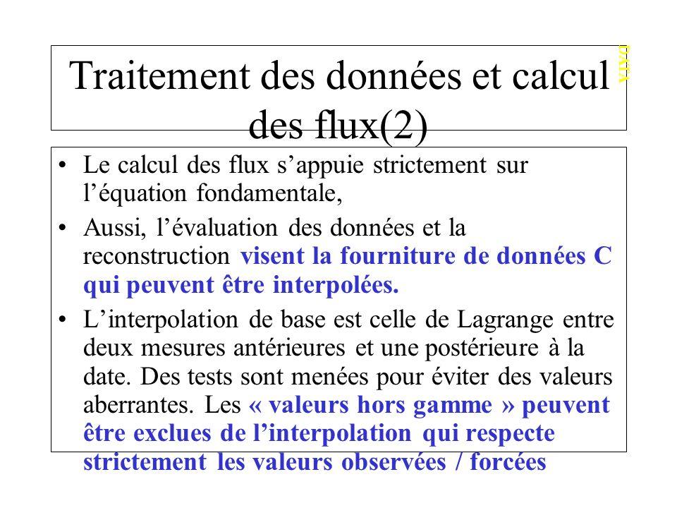 Traitement des données et calcul des flux(2)