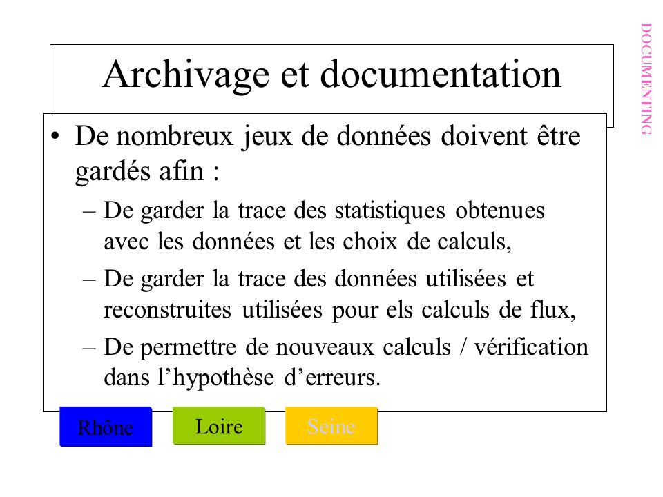 Archivage et documentation
