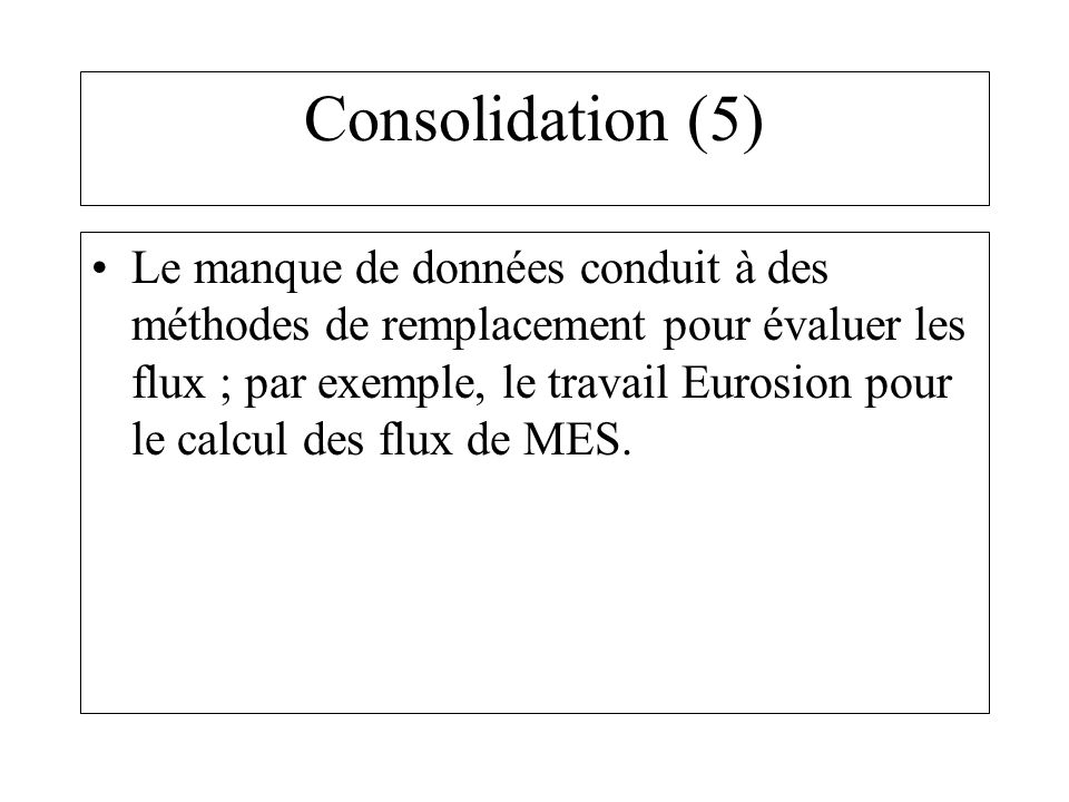 Consolidation (5)