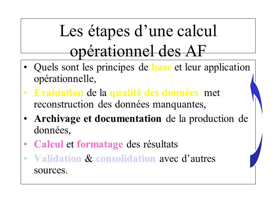 Les étapes d'une calcul opérationnel des AF