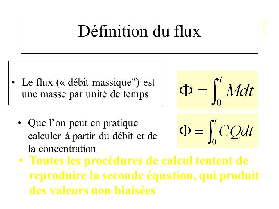BASIC Définition du flux. Le flux (« débit massique ) est une masse par unité de temps.