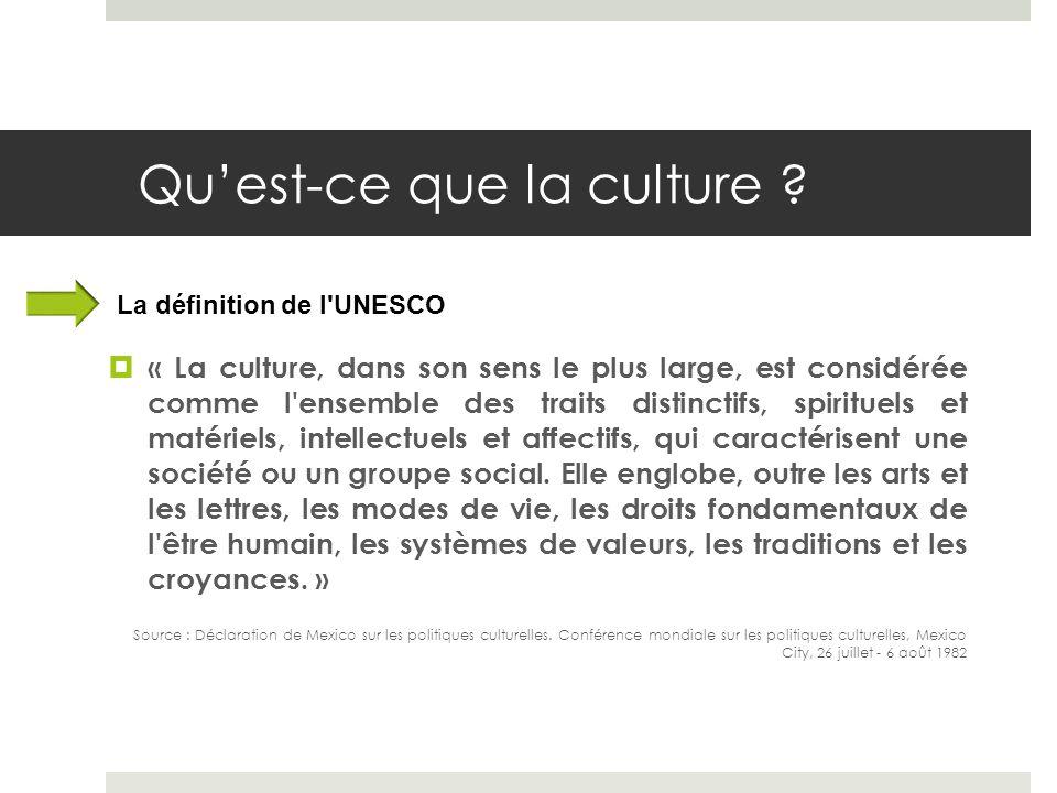 Qu'est-ce que la culture