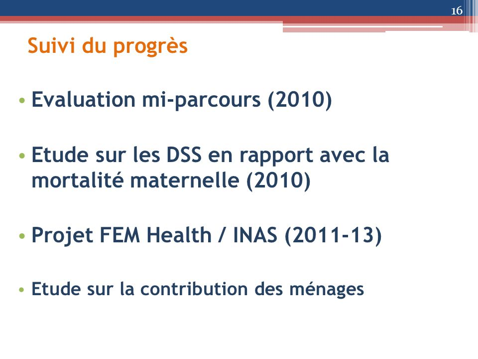 Evaluation mi-parcours (2010)