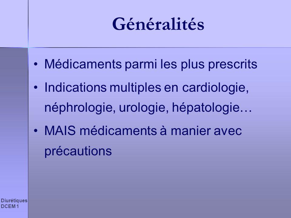 Généralités Médicaments parmi les plus prescrits