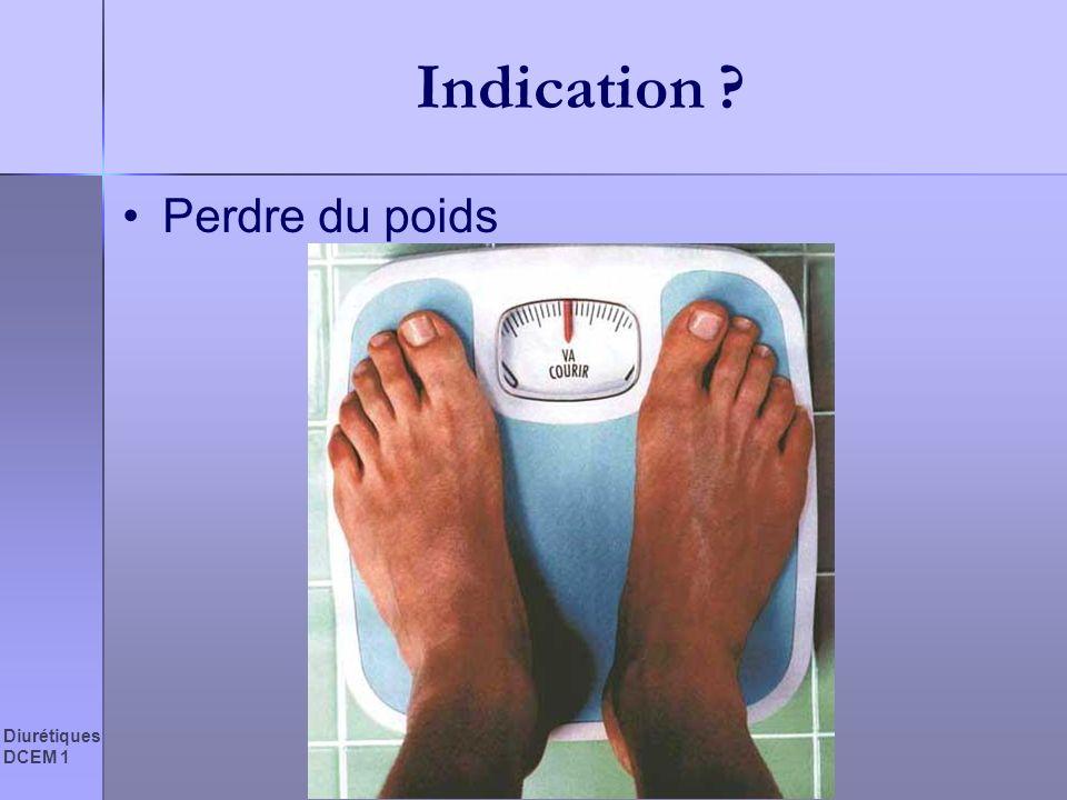 Indication Perdre du poids Diurétiques DCEM 1