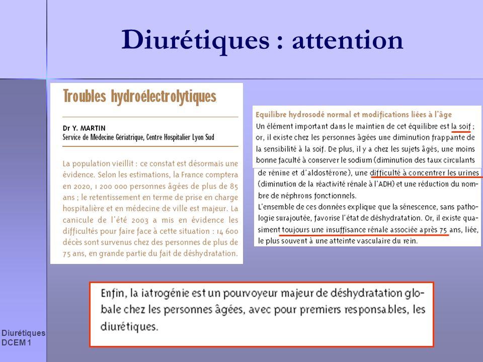 Diurétiques : attention