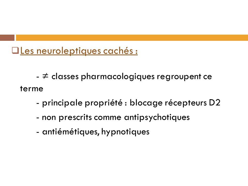 Les neuroleptiques cachés :