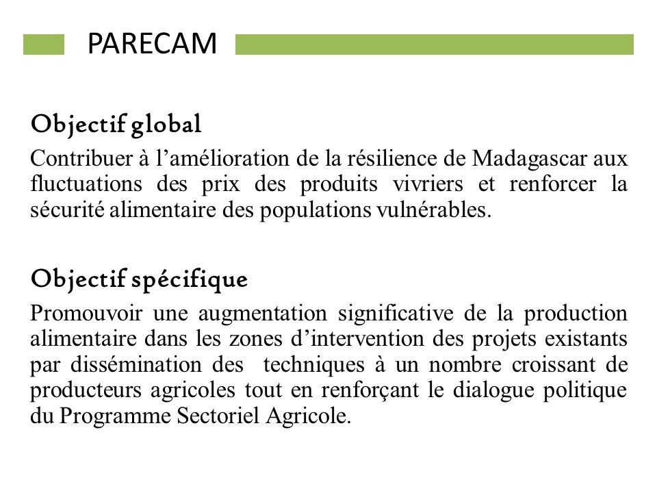 PARECAM Objectif global Objectif spécifique
