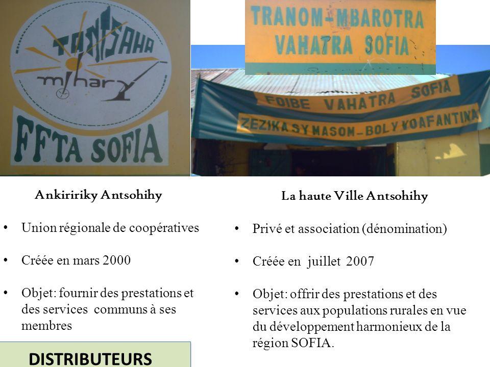 DISTRIBUTEURS La haute Ville Antsohihy Ankiririky Antsohihy