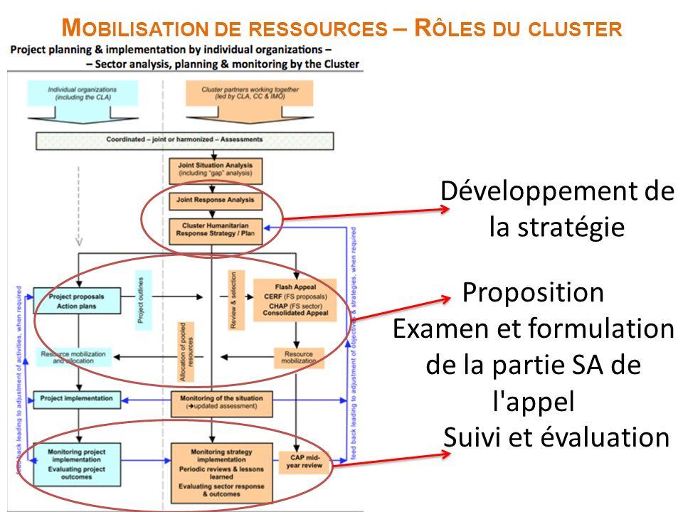Mobilisation de ressources – Rôles du cluster