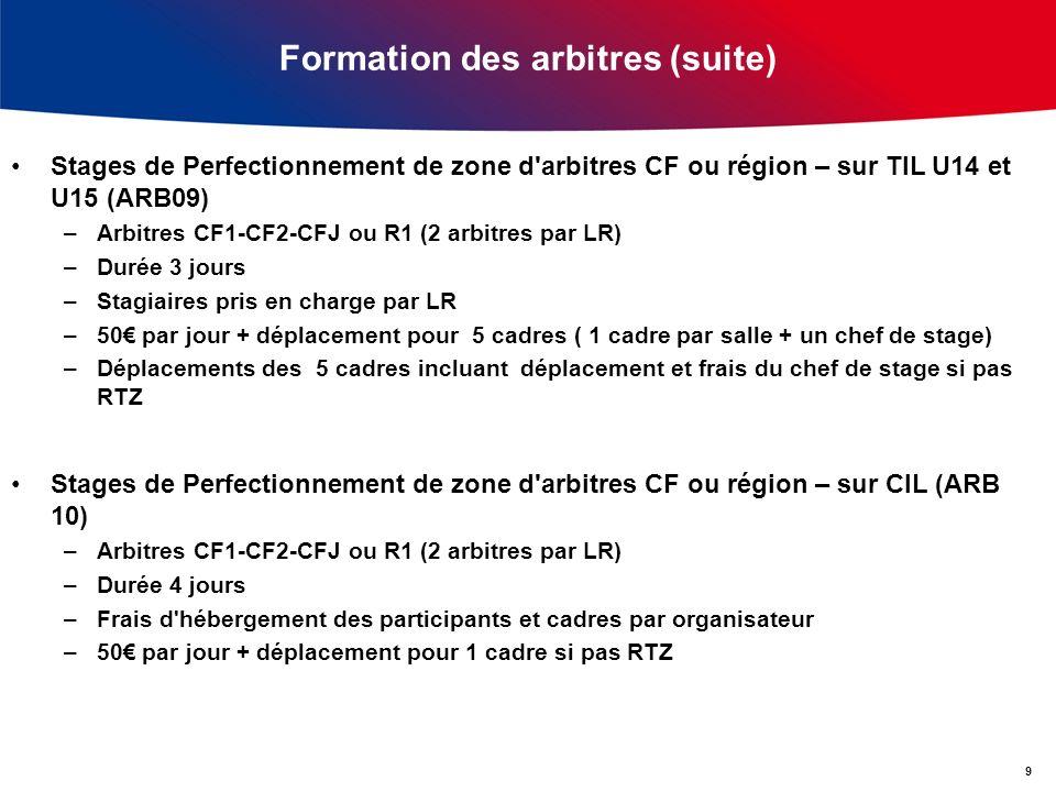 Formation des arbitres (suite)