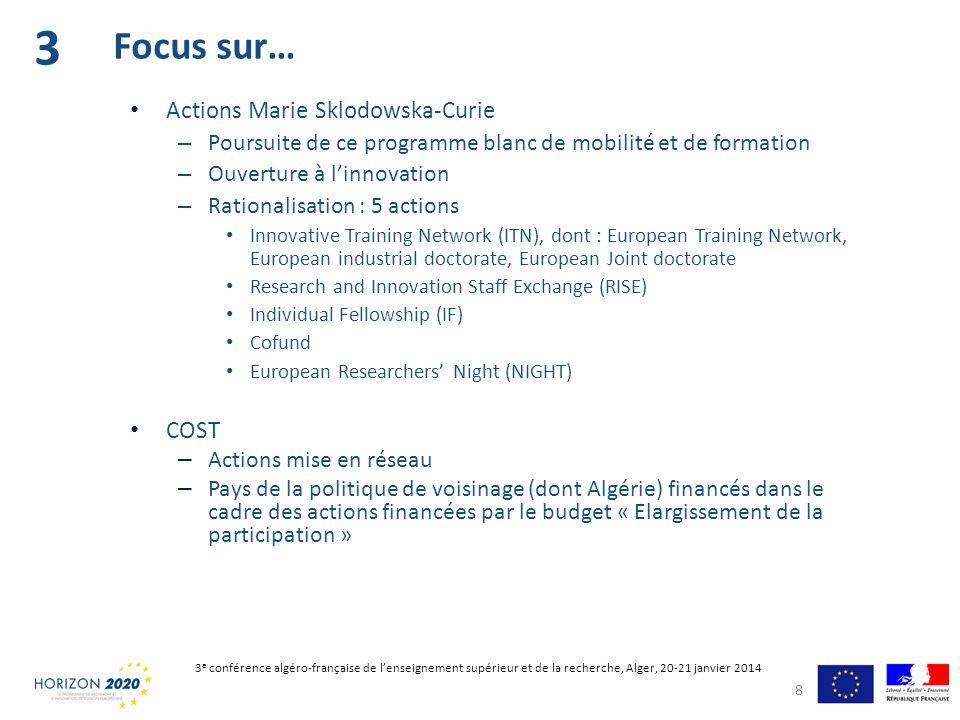3 Focus sur… Actions Marie Sklodowska-Curie COST