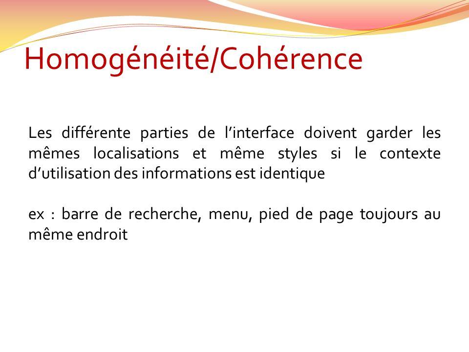 Homogénéité/Cohérence