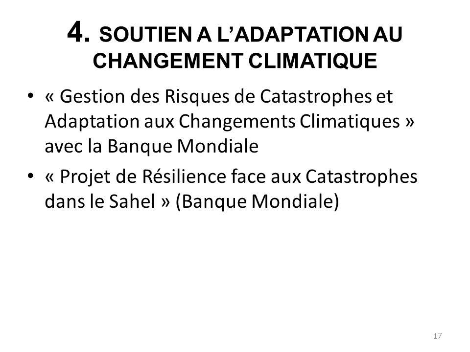 4. SOUTIEN A L'ADAPTATION AU CHANGEMENT CLIMATIQUE