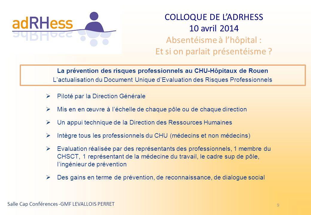 La prévention des risques professionnels au CHU-Hôpitaux de Rouen