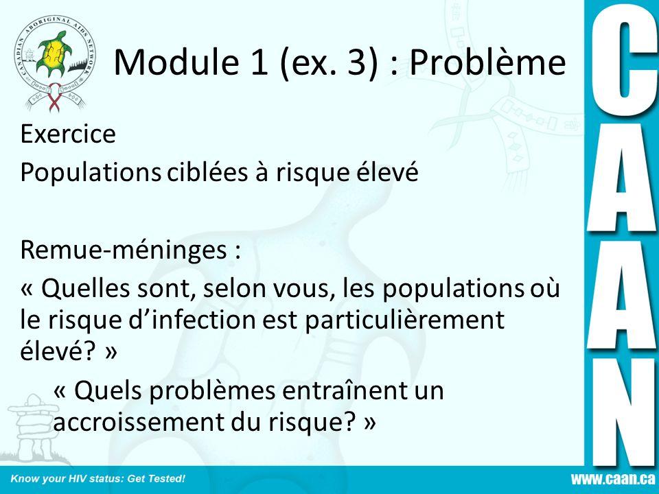 Module 1 (ex. 3) : Problème