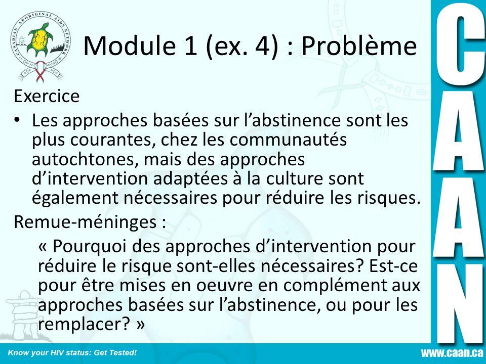 Module 1 (ex. 4) : Problème Exercice