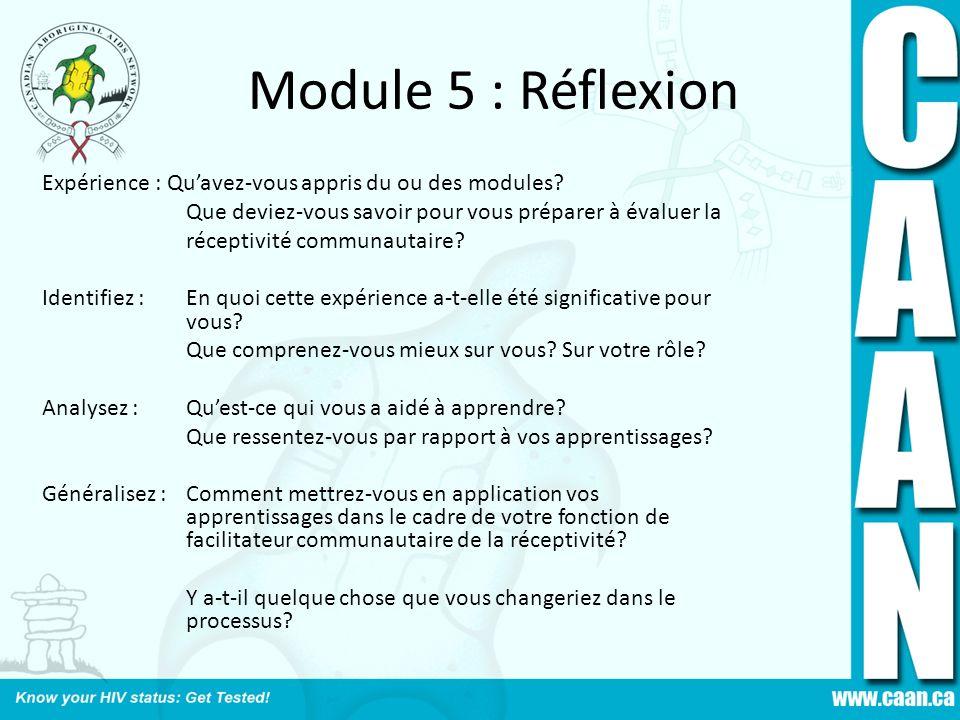 Module 5 : Réflexion