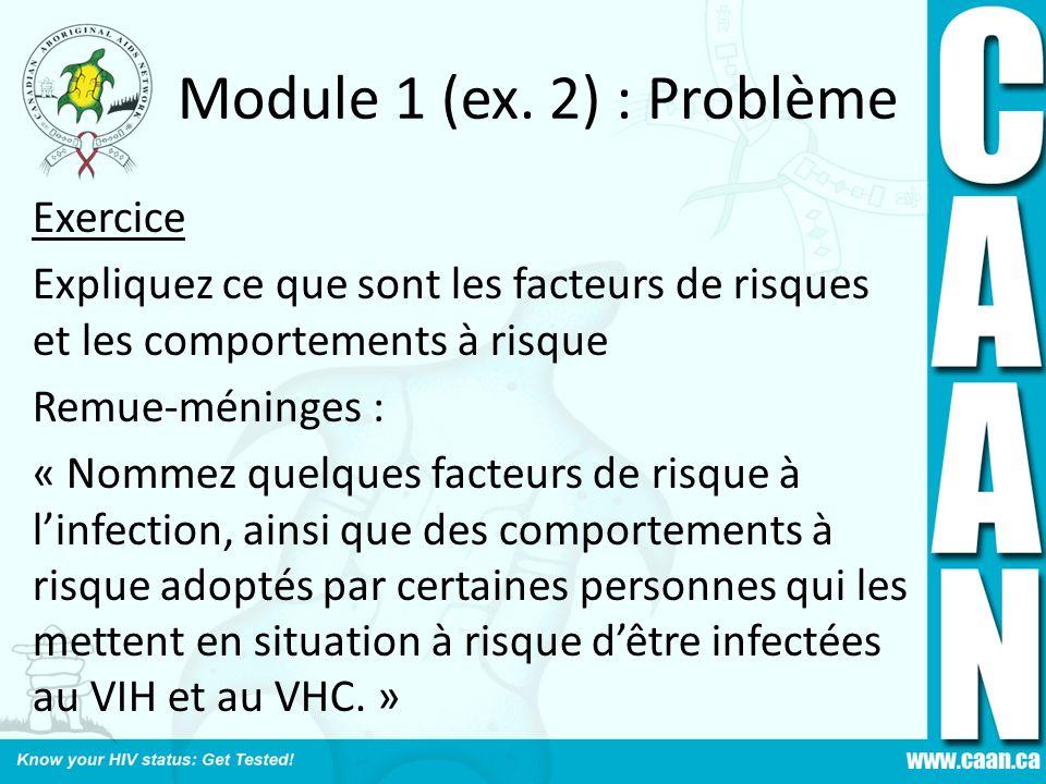 Module 1 (ex. 2) : Problème