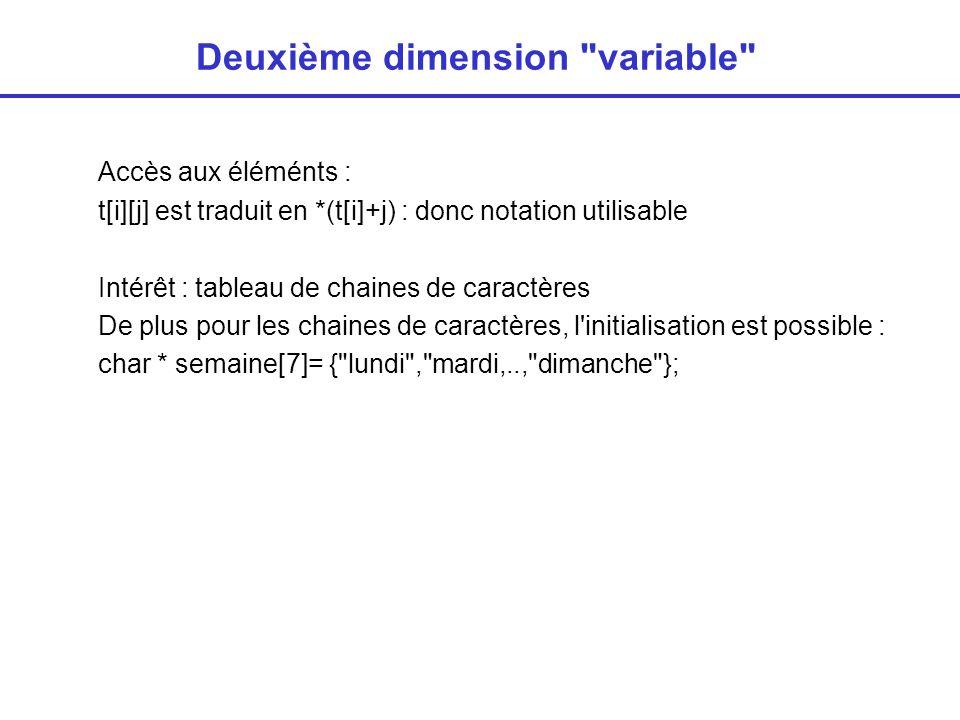 Deuxième dimension variable