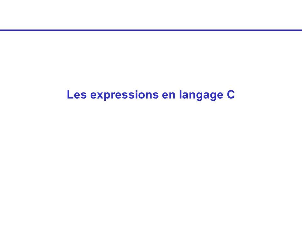 Les expressions en langage C