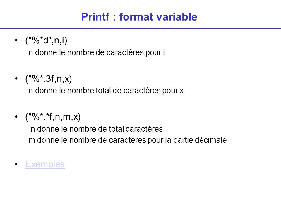 Printf : format variable