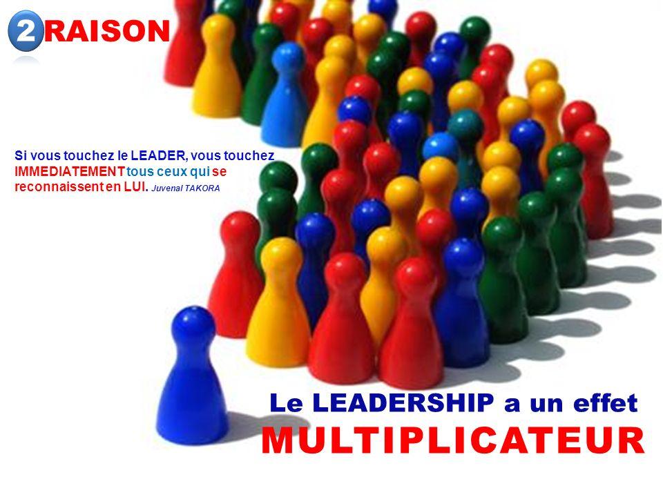 Le LEADERSHIP a un effet MULTIPLICATEUR
