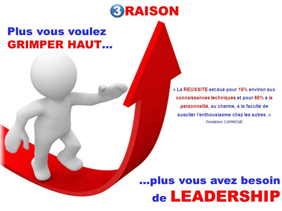 RAISON 3 Plus vous voulez GRIMPER HAUT…
