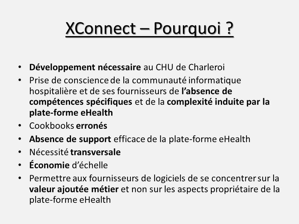 XConnect – Pourquoi Développement nécessaire au CHU de Charleroi